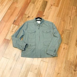J. Crew Green Field Mechanic Utility Jacket XL